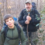 Joe and Lawrence Lee on their backpacking adventure