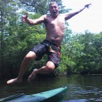 A wounded warrior having fun on the river