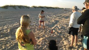 Mandy teaching sea turtle class